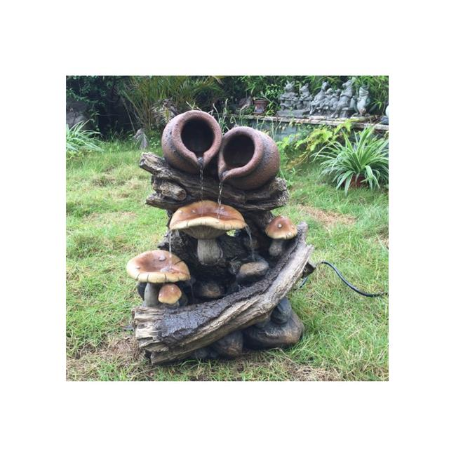 Jeco FCL126 Pots On Wood Stump Water Fountain