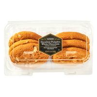 Marketside Decadent Pumpkin White Chocolate Chunk Cookies, 6 ct
