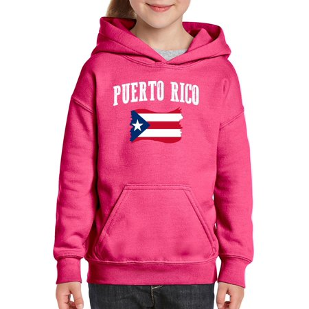 Puerto Rico Flag Unisex Hoodie For Girls and Boys Youth Sweatshirt (Puerto Rico Costume For Boys)