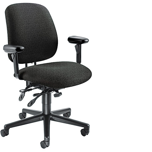 HON 7700 Series Asynchronous Swivel/Tilt Task Chair, Seat Glide, Multiple Colors