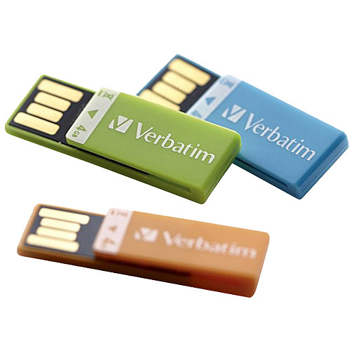 Verbatim 4GB Clip-It USB Drive, 3pk
