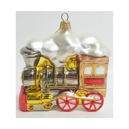 Kurt Adler Polonaise Hand Blown Glass Large Locomotive Ornament