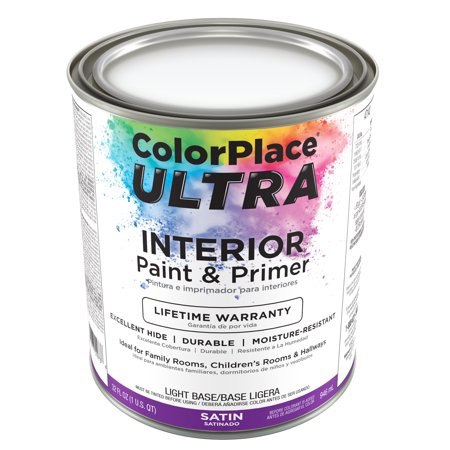 Color Place Ultra Satin Interior Paint & Primer Light Base 1-Qt
