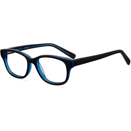 Contour Youths Prescription Glasses, FM14044 Black/Blue (Prescription Glasses Sports)