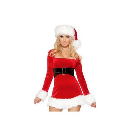 Female Catholic Saints Costumes (Roma Costume Sexy Santa Mini Dress C147)