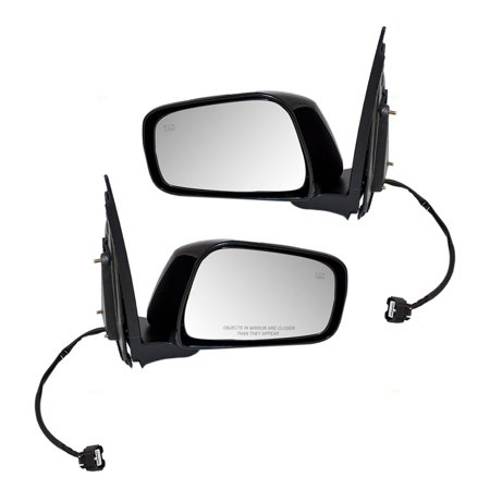 Driver and Passenger Power Side View Mirrors Heated Replacement for 05-18 Nissan Frontier 05-12 Pathfinder 96302-EA19E 96301-EA19E