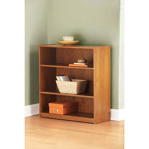Mainstays 3 Shelf Bookcase In Alder Wood Finish - Walmart.com