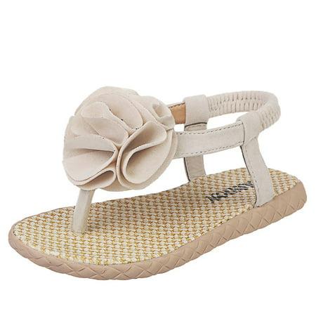 Summer 2019Infant Kids Baby Girls Flower Beach Priness Shoes (Best Beach Sandals 2019)