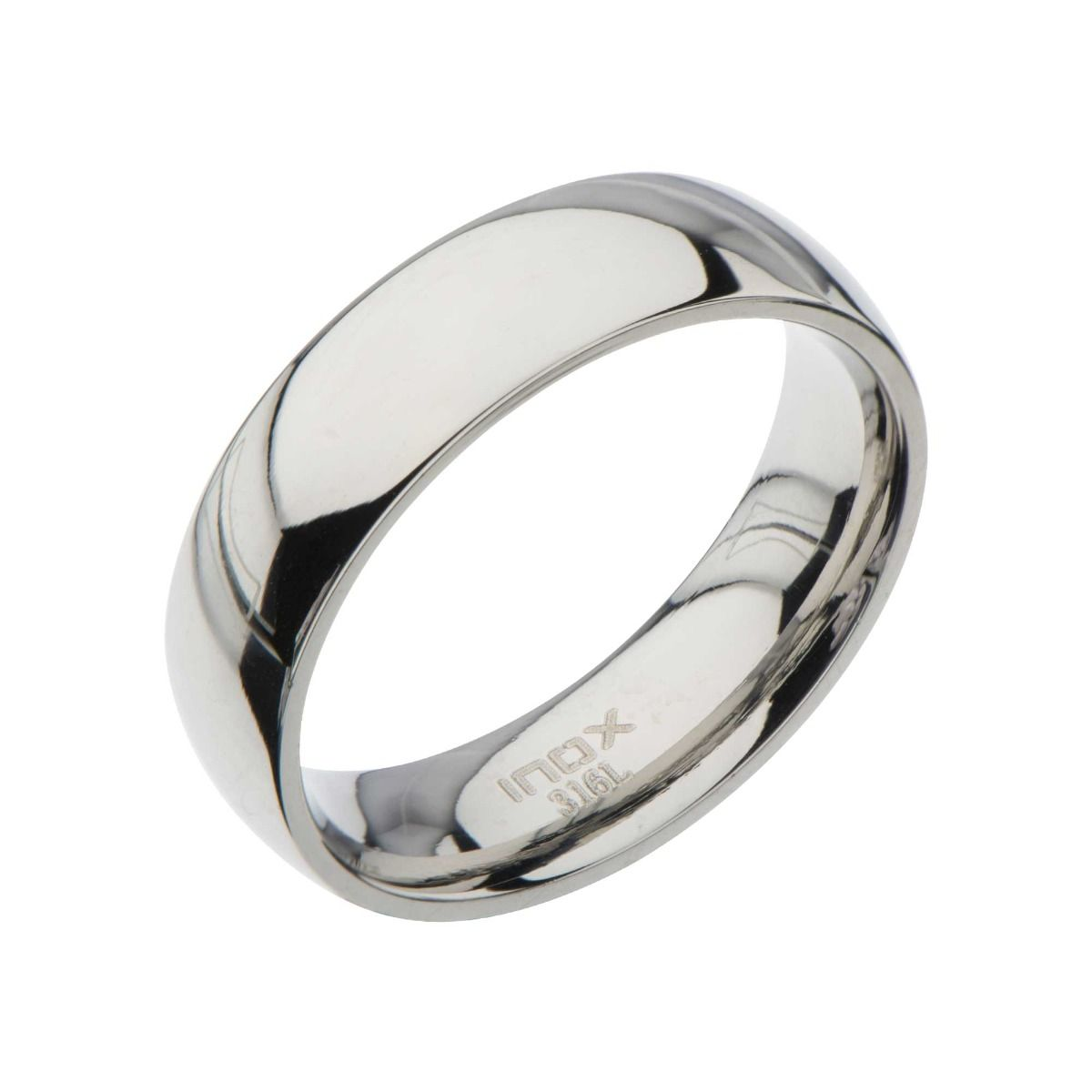 Steel Art Men's Stainless Steel 6mm Classic Wedding Band with High-Polish Finish