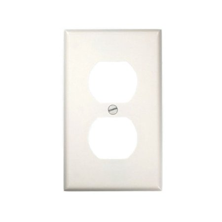 Leviton 88003 1-Gang Duplex Device Receptacle Wallplate, White