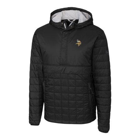 online store 71795 fb4d7 Minnesota Vikings Cutter & Buck Rainier Hooded Half-Zip Pullover Jacket -  Black