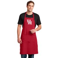 Large Mens UH Apron or OFFICIAL UH Large Aprons for Women - For Barbecue Grilling Tailgating or Kitchen