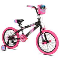 """Kent 18"""" Sparkles Girl's Bike, Black/Pink"""