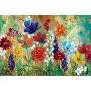 portfolio canvas decor wildflower fresco i by e franklin wrapped and stretched canvas - Canvas Wall Decor