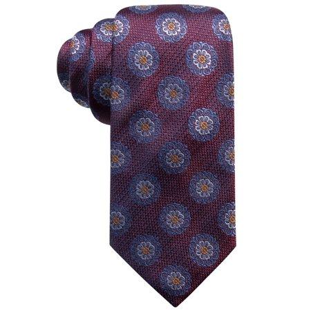 Medallion Wine (Wine Floral Medallion Patterned Men's Silk Neck Tie Not Applicable)
