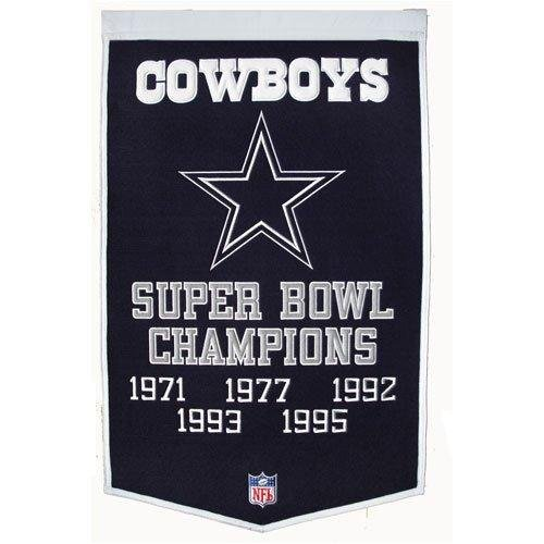 Dallas Cowboys Navy Dynasty Banner