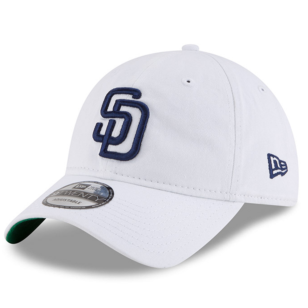 San Diego Padres New Era Classic 9TWENTY Adjustable Hat - White - OSFA