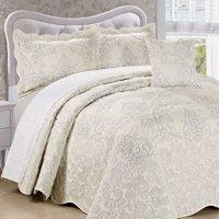 Serenta Damask Embroidered 4 Piece Bed Spread Set
