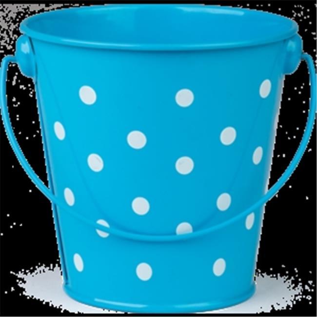 Aqua Polka Dots Bucket - image 1 de 1
