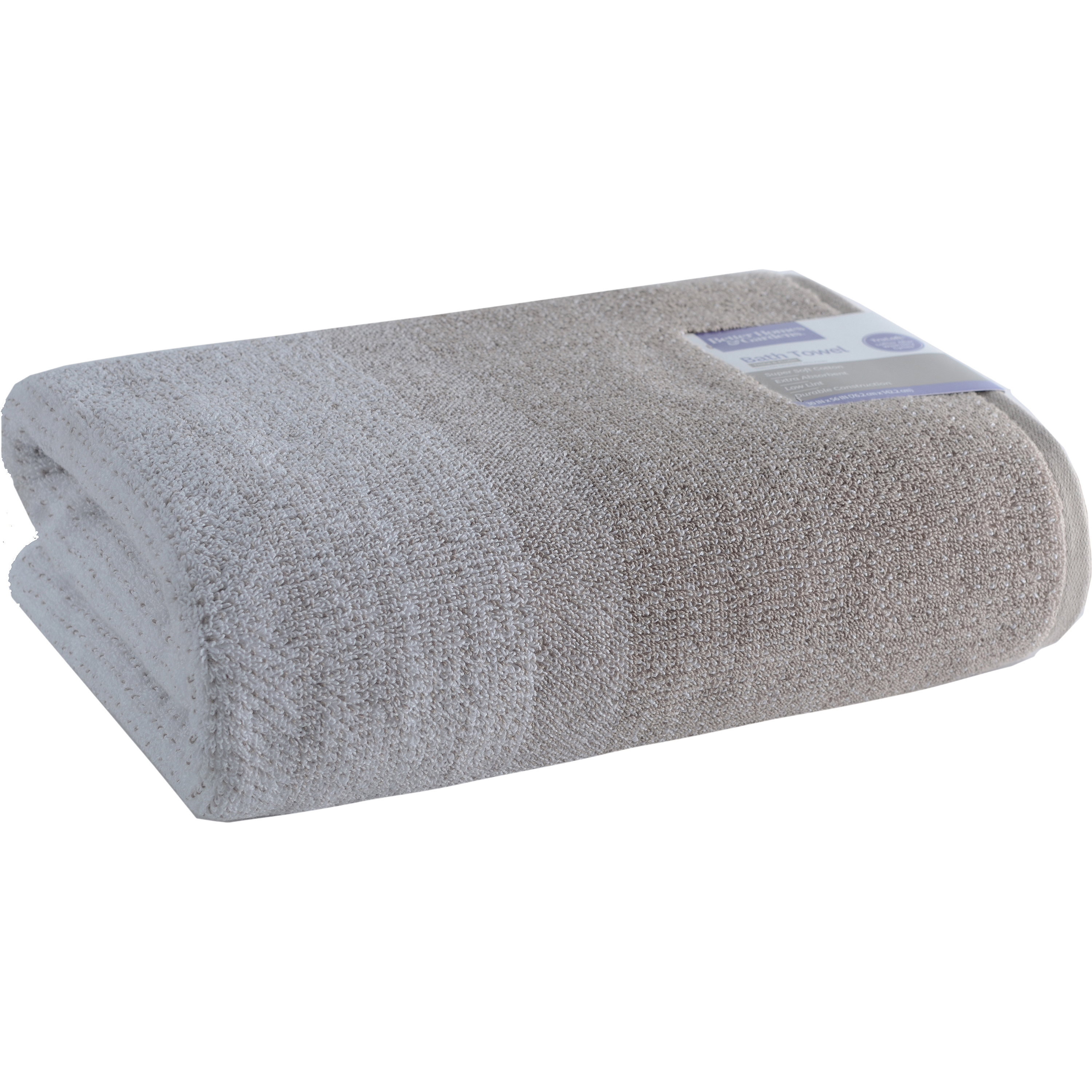 Better Homes and Gardens Thick and Plush Heathered Bath Towel Collection by Loftex China LTD