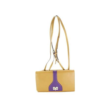 Prada Brown Leather Womens Shoulder Bag ()