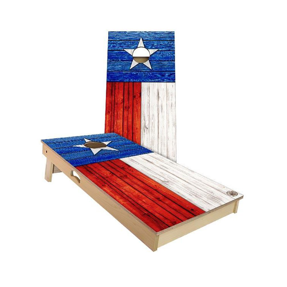 Slick Woody's Texas State Flag Regulation Cornhole Board Beanbag Toss Game Set by Slick Woody's