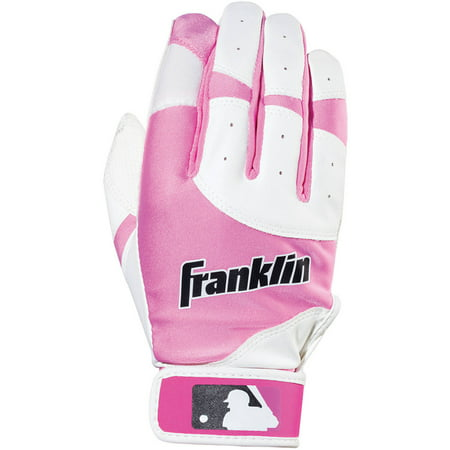 Franklin Sports Youth Flex Batting Gloves White/Pink, (Upper Hand Batting Gloves)
