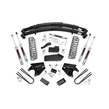 Bronco 4wd Front Lift - Rough Country - 525.20 - 6-inch Suspension Lift System w/ Premium N2.0 Shocks for Ford: 80-96 Bronco 4WD, 80-83 F100 4WD, 80-96 F150 4WD