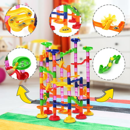 DIY Maze Race Run Coaster Track Building Toy 105 Piece gift for Child Kid Boys - Building For Kids