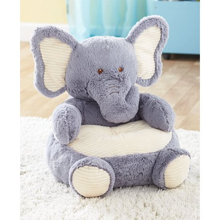 Cuddly Elephant - Kids Plush Chair Animal Shaped Ultra Soft Cuddly Furniture Gift Cozy Toddler New (Elephant)