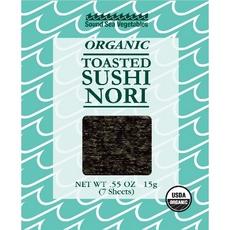 Sound Sea Vegetables Organic Toasted Sushi Nori (12x0.55Oz)