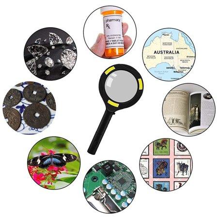 Magnifying Glass Lens LED Light Lamp Visor Head Loupe Multifunction (Magnifying Head Visor)