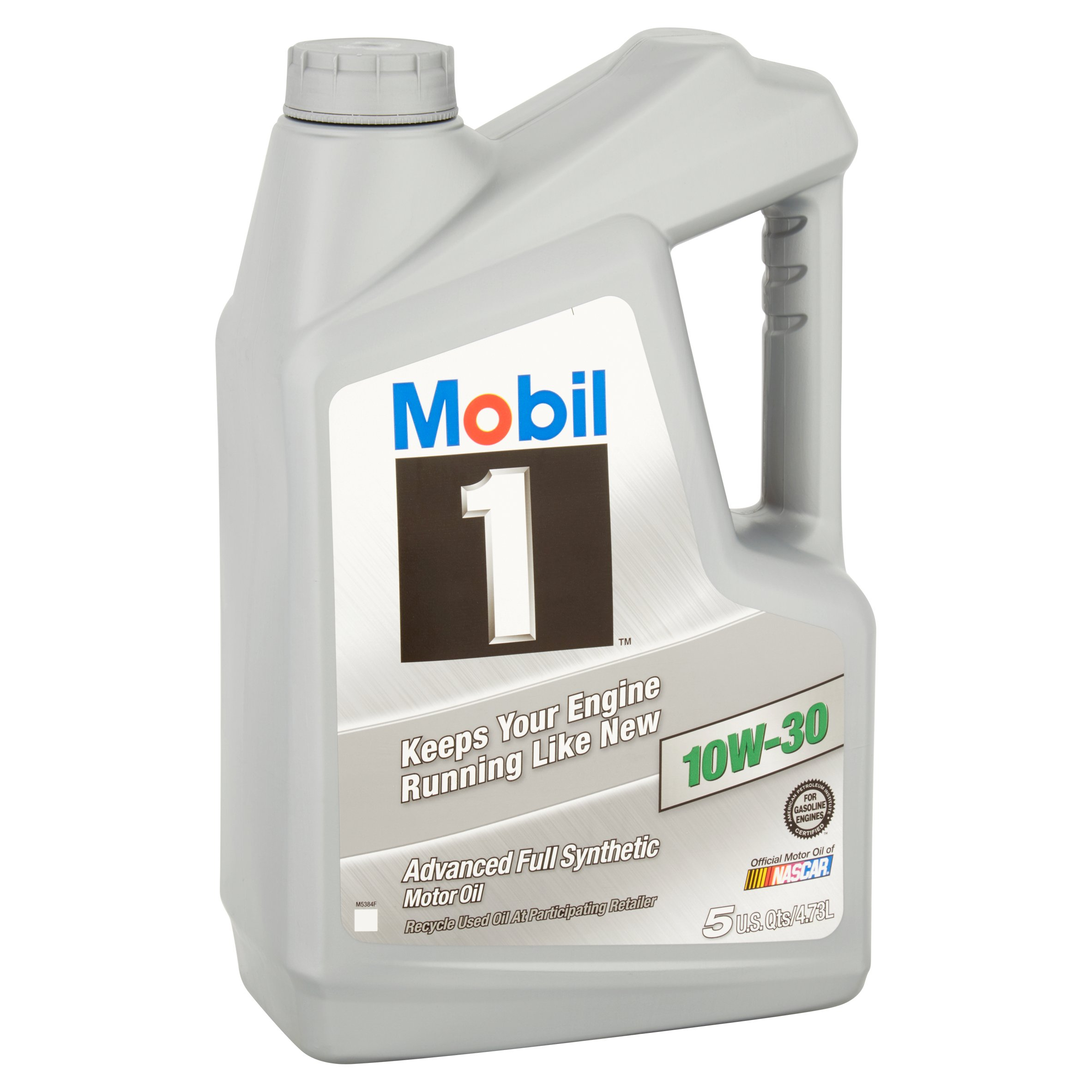 Mobil 1 10w 30 full synthetic motor oil 5 qt 071924448988 for Synthetic motor oil sale