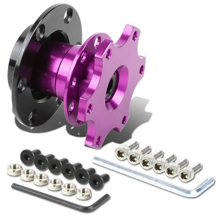 """6-Hole Pull Ball Bearing Style 2"""" Thick Steering Wheel Short Quick Release Hub Adapter (Purple)"""