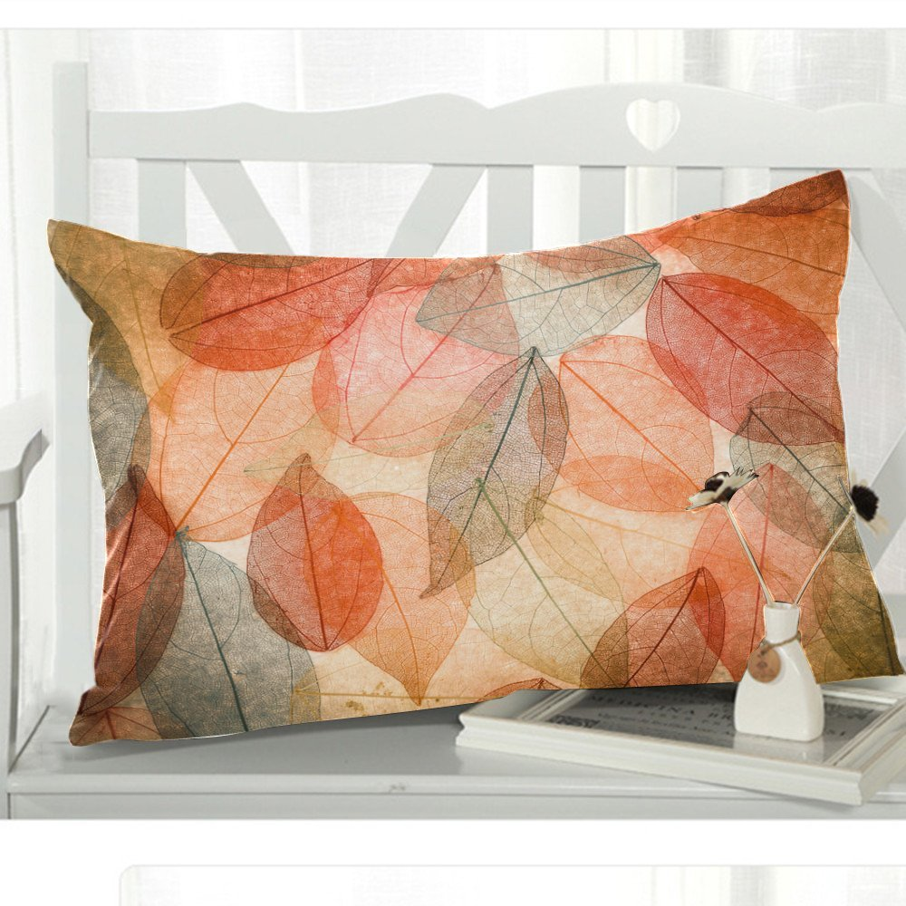 GCKG Abstract Fall Leaves Pillowcase Pillow Cover 20x30 inches,Beautiful Autumn Leaves Pillow Case ative - image 1 of 3