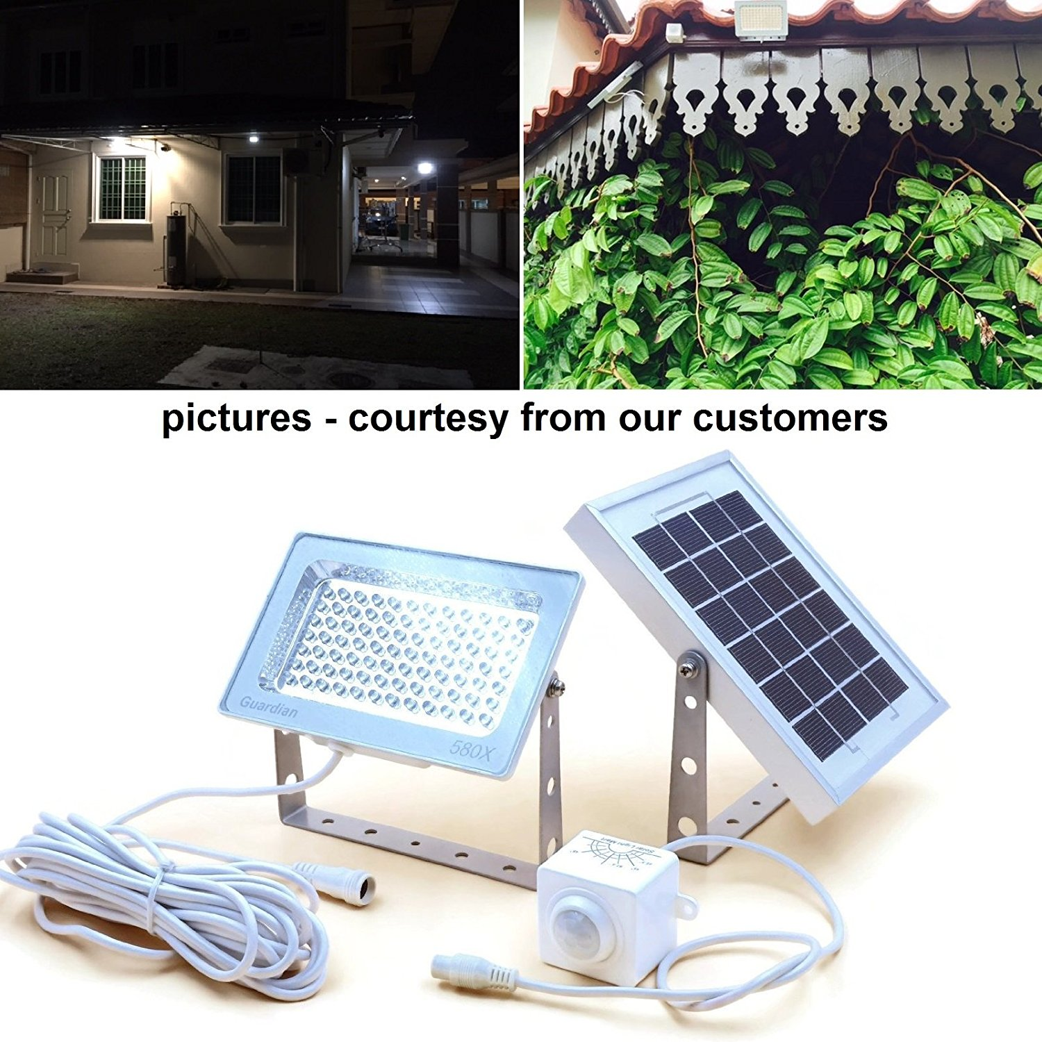 Guardian 580x Solar Security Floodlight With Standalone Pir