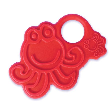 oogaa Home Octopus Teether Easy Clean, Baby Safe High-Grade Silicone, Red