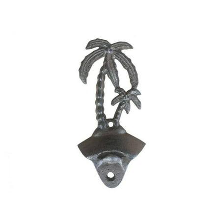 Cast Iron Wall Mounted Palmtree Bottle Opener 6