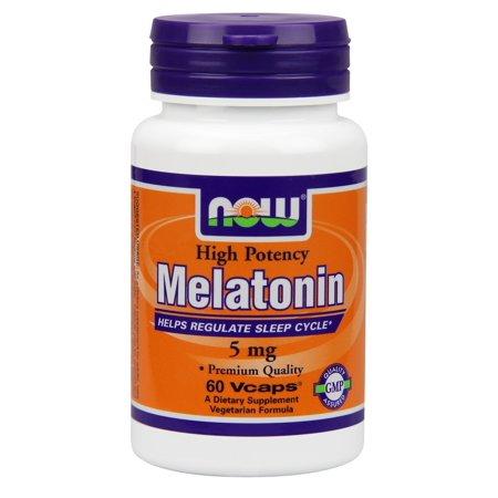 NOW Foods Vegetarian Melatonin Sleep Aid, 5mg, 60 Ct