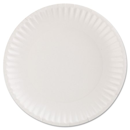 AJM Packaging Corporation AJM CP9GOEWH Gold Label Coated Paper Plates, 9