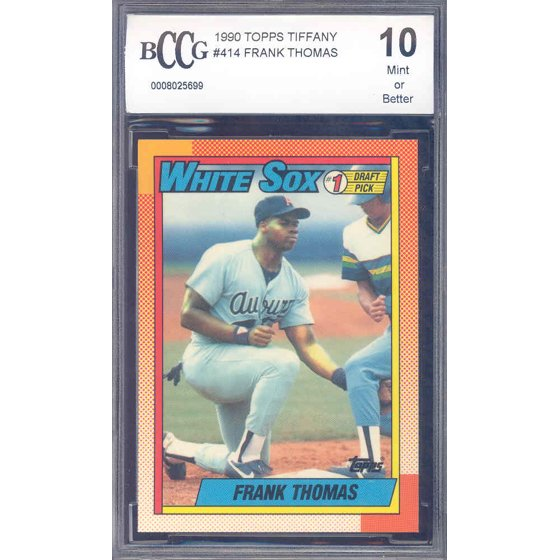 87d0a2838 1990 topps tiffany  414 FRANK THOMAS chicago white sox rookie card BGS BCCG  10 - Walmart.com
