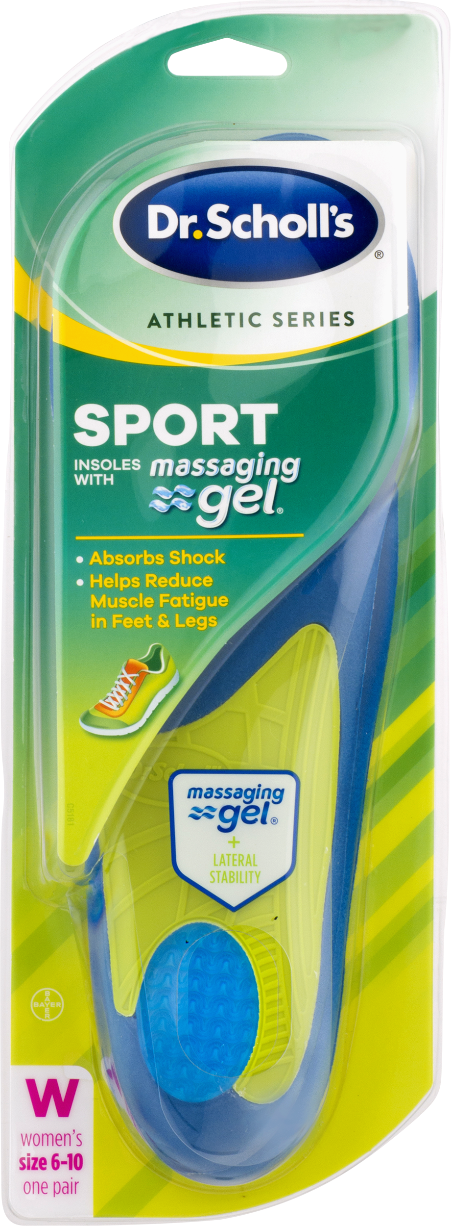 Dr. Scholls Athletic Series Sport Insoles for Men, 1 Pair, Size 10.5-14 by Bayer Healthcare LLC