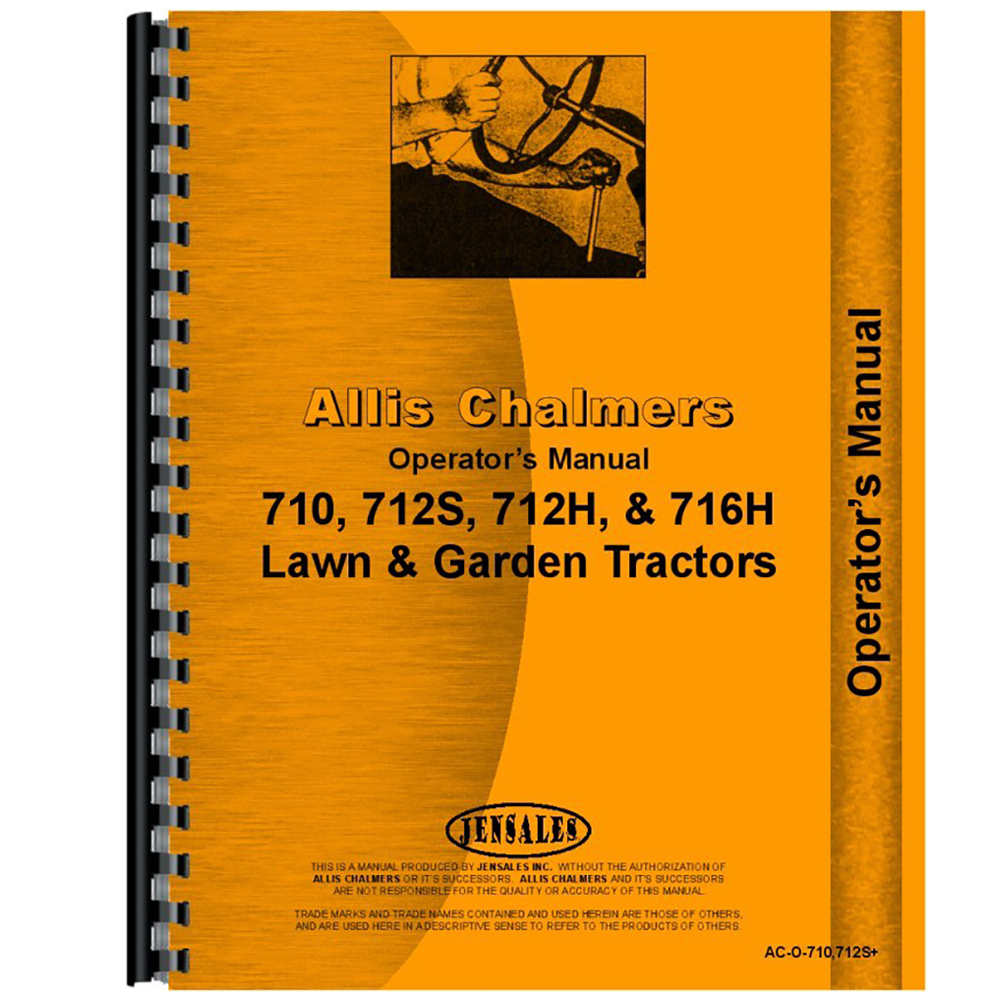 New Operators Manual Made for Allis Chalmers AC Tractor Model 712S -  Walmart.com