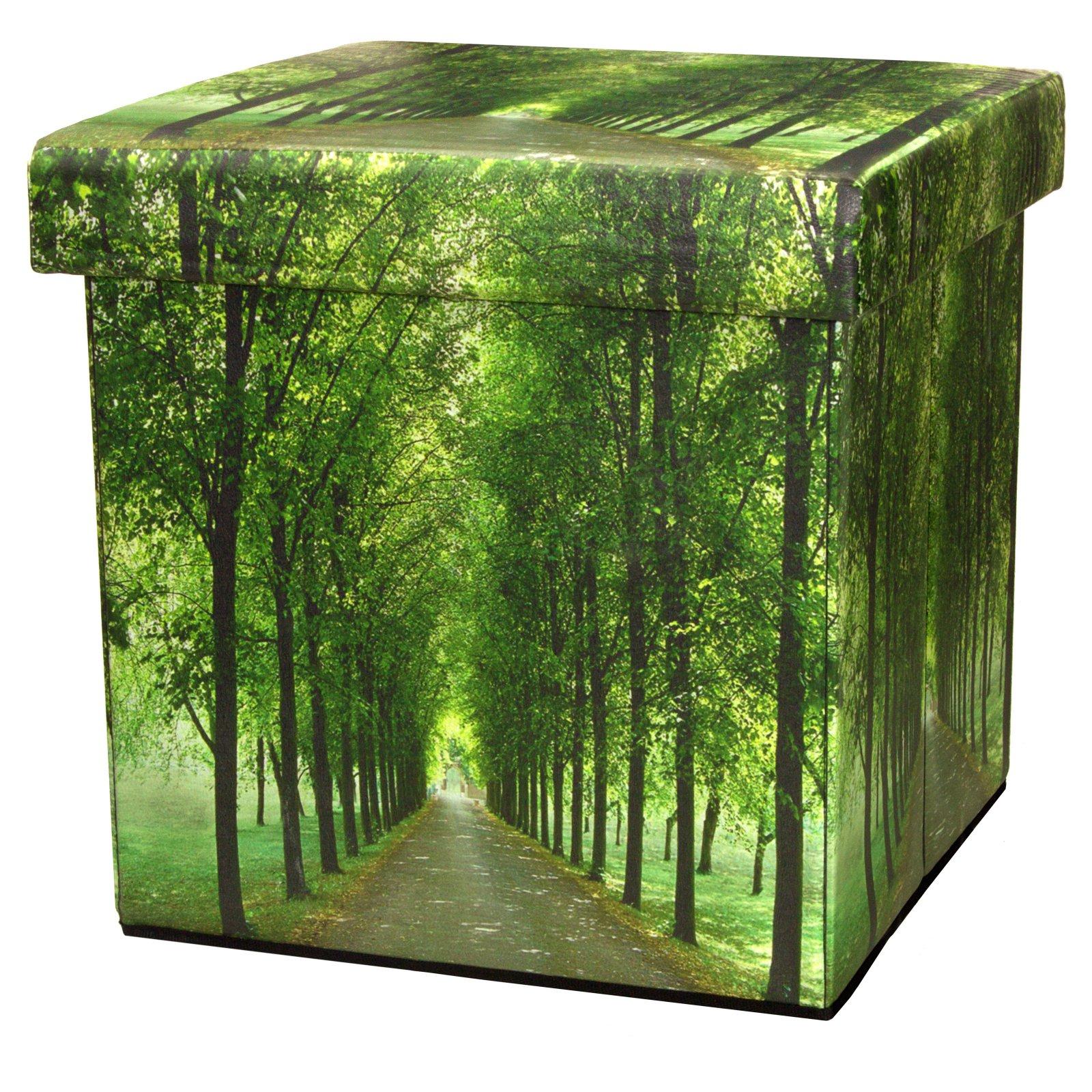 Oriental Furniture Path of Life Storage Bin
