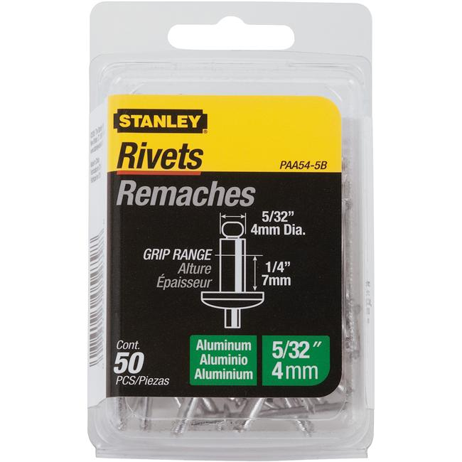 Stanley Hand Tools 50 Pack .16in. X .25in. Aluminum Grip Rivets  PAA54-5B