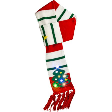 Christmas Tree Light Up Scarf Costume Accessory - Xmas Tree Costume