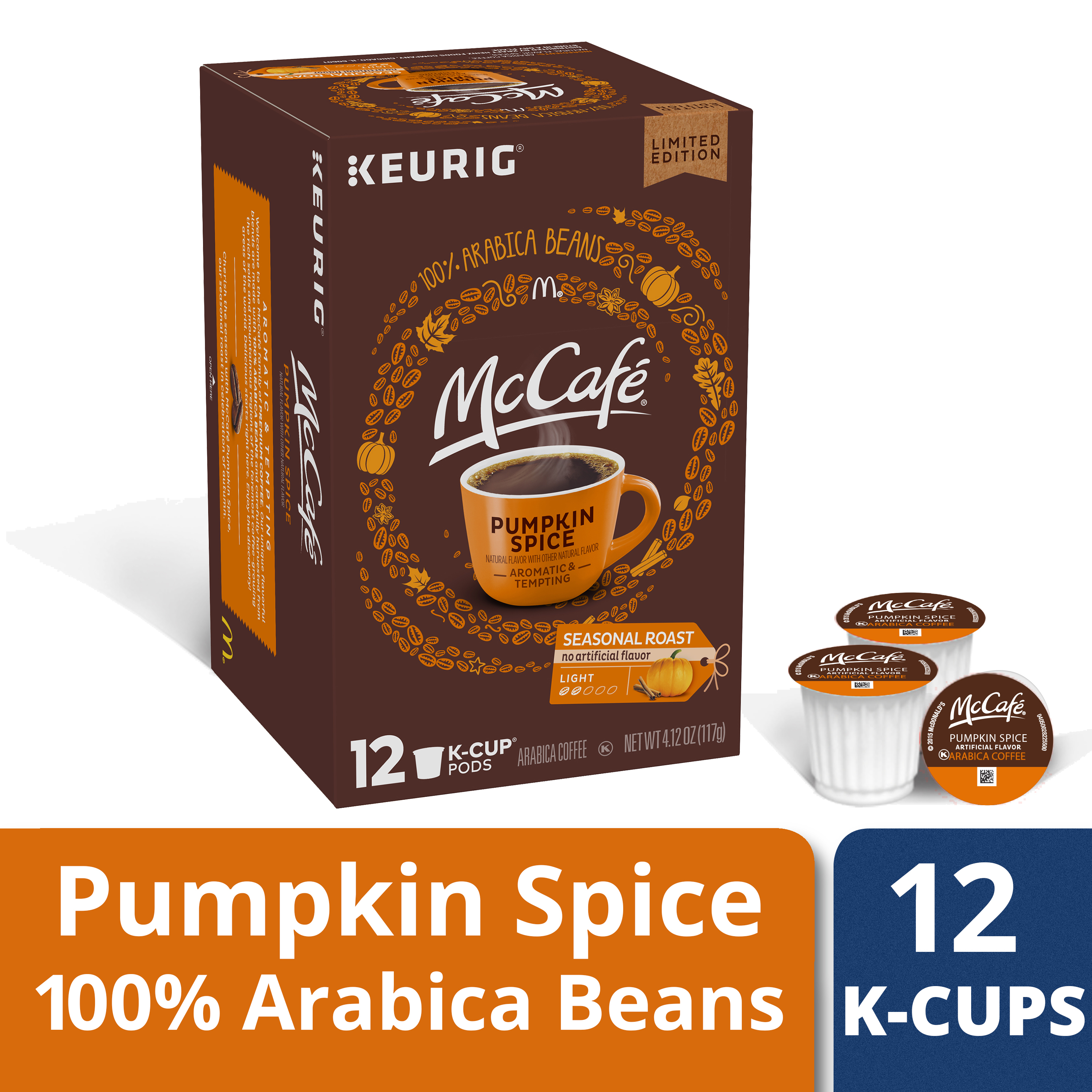 McCafé Pumpkin Spice Coffee K-Cup Pods, 12 count