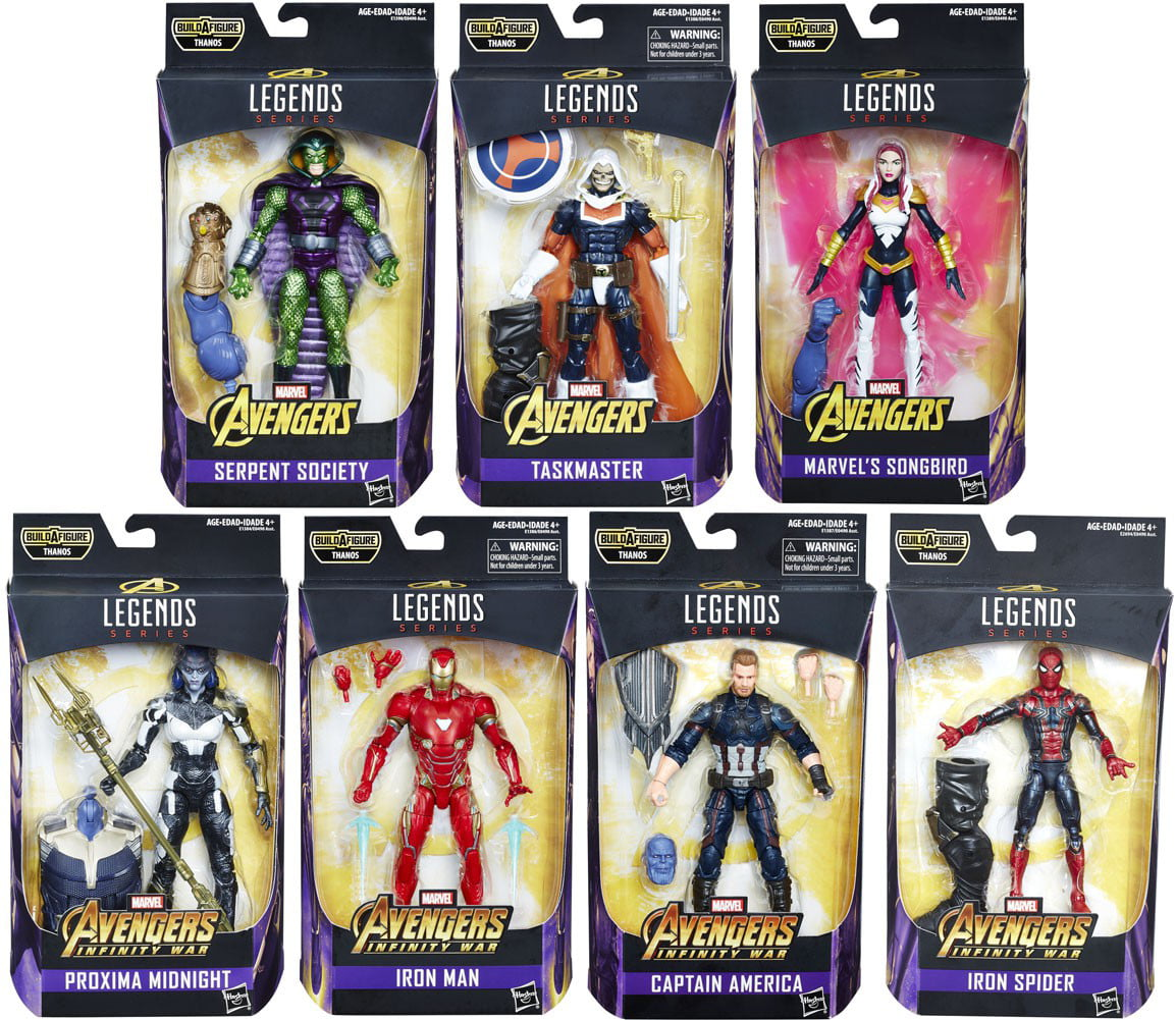 Avengers: Infinity War Marvel Legends Thanos Series Set of 7 Action Figures by