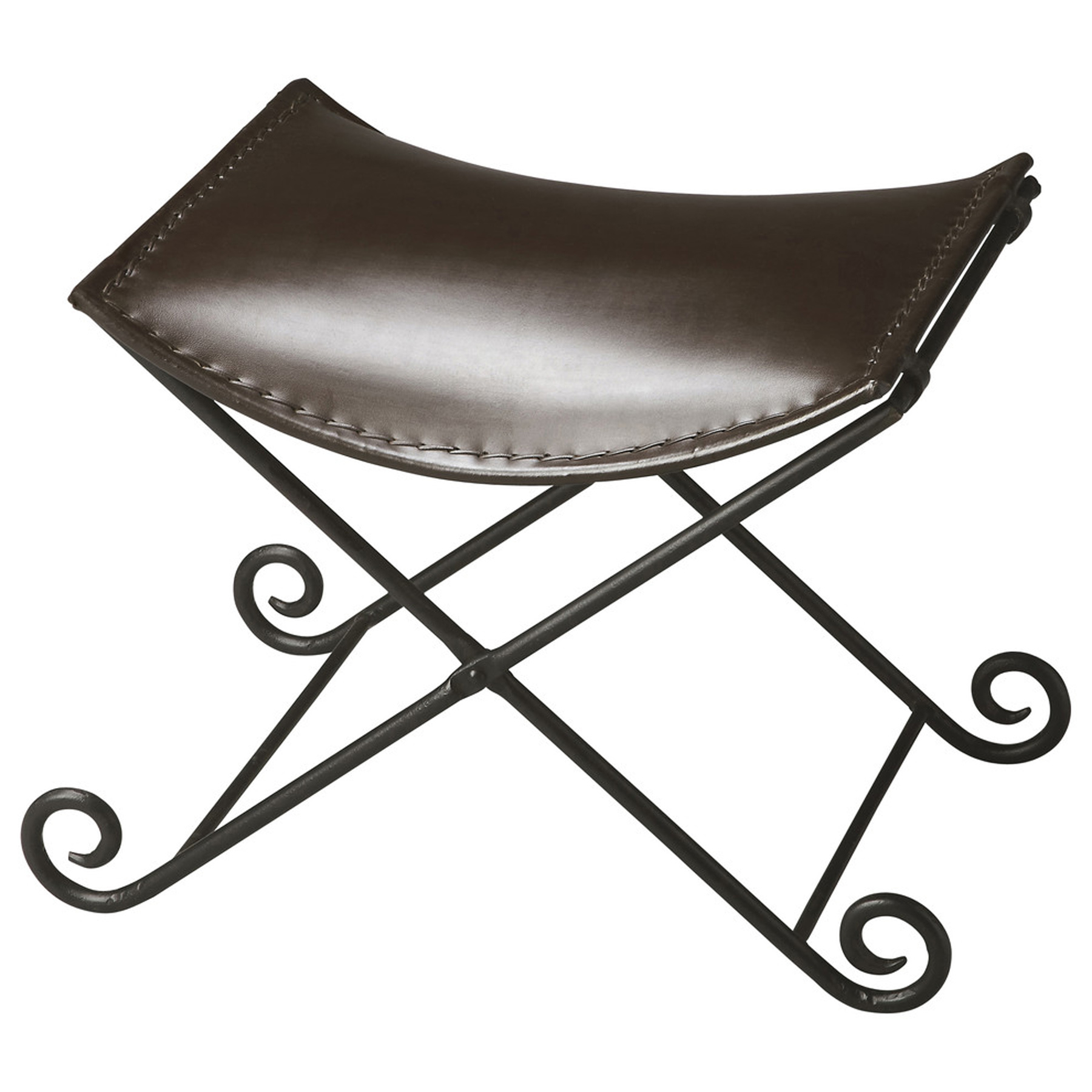 Butler Jeremy Leather & Metal Stool