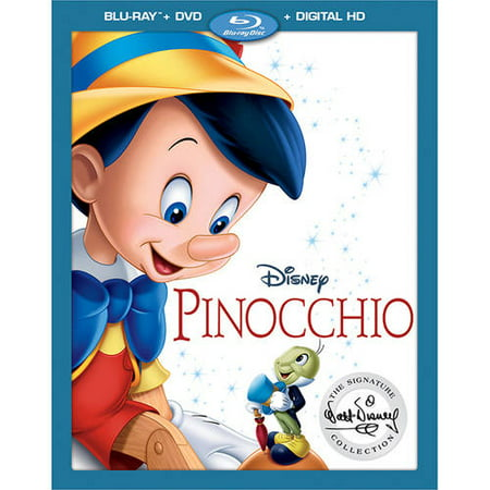 Pinocchio (The Walt Disney Signature Collection) (Blu-ray + DVD + Digital HD) - Disney Halloween Movie List